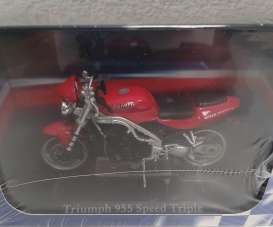 Triumph  - 955 Speed Triple red/black - 1:24 - Magazine Models - 4110106 - mag4110106 | The Diecast Company