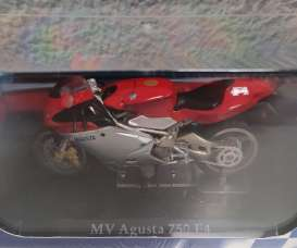MV Agusta  - 750 F4 silver/red - 1:24 - Magazine Models - 4110102 - mag4110102 | The Diecast Company