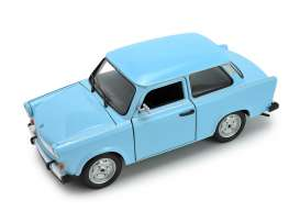 Trabant  - 601 light blue - 1:24 - Welly - 24037 - welly24037b | The Diecast Company