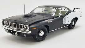 Plymouth  - Hemi Cuda 1971 black/white - 1:18 - Acme Diecast - 1806122 - acme1806122 | The Diecast Company