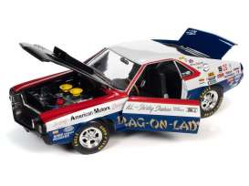 AMC  - AMX S/S 1969 red/white/blue/black - 1:18 - Auto World - 267 - AW267 | The Diecast Company
