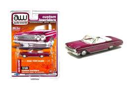 Chevrolet  - Impala SS convertible 1962 purple - 1:64 - Auto World - CP7663 - AWCP7663 | The Diecast Company