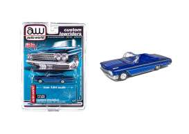 Chevrolet  - Impala SS convertible 1962 candy blue - 1:64 - Auto World - CP7662 - AWCP7662 | The Diecast Company