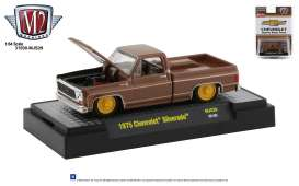 Chevrolet  - Silverado square body 1975 brown/yellow - 1:64 - M2 Machines - 32500MJS29 - M2-32500MJS29 | The Diecast Company
