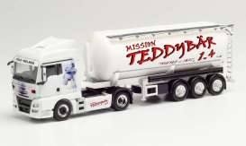 MAN  - TGX XLX white/red - 1:87 - Herpa - 312523 - herpa312523 | The Diecast Company