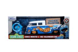 Volkswagen  - Bus pick-up 1962 blue/white - 1:24 - Jada Toys - 31751 - jada31751 | The Diecast Company