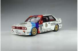BMW  - M3 E30 white/blue/red - 1:12 - OttOmobile Miniatures - G055 - ottoG055 | The Diecast Company
