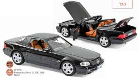 Mercedes Benz  - SL 500 1990 blue - 1:18 - Norev - 183750 - nor183750 | The Diecast Company