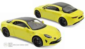 Alpine Renault - A110 2020 yellow - 1:18 - Norev - 185315 - nor185315 | The Diecast Company