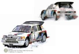 Peugeot  - 205 1986 white/red/blue - 1:18 - Norev - 184863 - nor184863 | The Diecast Company