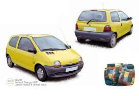Renault  - Twingo 1995 lemon yellow - 1:18 - Norev - 185297 - nor185297 | The Diecast Company