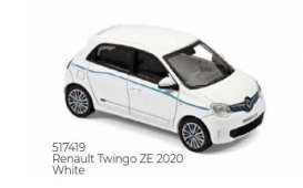 Renault  - Twingo 2020 white - 1:43 - Norev - 517419 - nor517419 | The Diecast Company