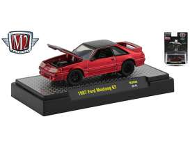 Ford  - Mustang GT 1987 metallic red/black - 1:64 - M2 Machines - 32500MJS30 - M2-32500MJS30 | The Diecast Company