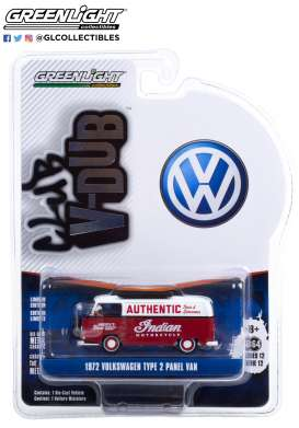 Volkswagen  - Type 2 1972 red/white - 1:64 - GreenLight - 36020B - gl36020B | The Diecast Company