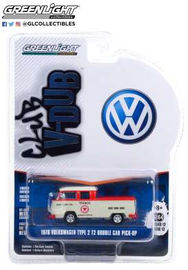 Volkswagen  - T2 Type 2 1976 grey/red - 1:64 - GreenLight - 36020D - gl36020D | The Diecast Company
