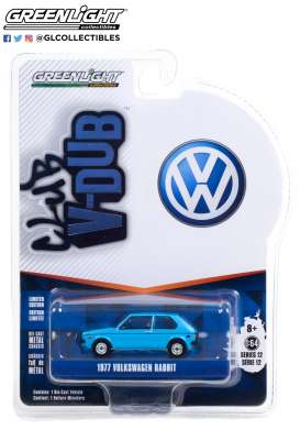 Volkswagen  - Rabbit 1977 blue - 1:64 - GreenLight - 36020E - gl36020E | The Diecast Company