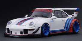 Porsche  - RWB 993 white/blue/red - 1:18 - Ignition - IG1957 - IG1957 | The Diecast Company