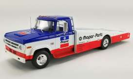 Dodge  - D300 Ramp Truck 1970 blue/white/red - 1:18 - Acme Diecast - 1801903 - acme1801903 | The Diecast Company