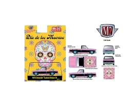 Chevrolet  - Custom Deluxe 10 1973 pink/black - 1:64 - M2 Machines - 32500MJS - M2-32500MJS31 | The Diecast Company