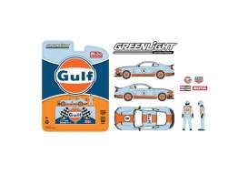 Ford  - Mustang Mach I  2021 light blue/orange - 1:64 - GreenLight - 51377 - gl51377 | The Diecast Company