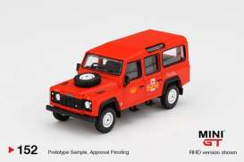 Land Rover  - Defender 110 red - 1:64 - Mini GT - 00152-R - MGT00152RHD | The Diecast Company