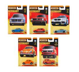 Assortment/ Mix  - Best of Germany various - 1:64 - Matchbox - GWL49 - MBGWL49-979A | The Diecast Company