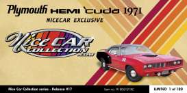 Plymouth  - Hemi Cuda 1971 red/black - 1:18 - Acme Diecast - 1806121NC - acme1806121NC | The Diecast Company