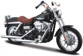 Harley Davidson  - 2006 black/brown - 1:18 - Maisto - 19140 - mai19140 | The Diecast Company