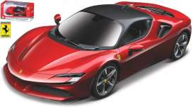 Ferrari  - SF90 red - 1:43 - Bburago - 36053R - bura36053r | The Diecast Company