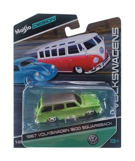 Volkswagen  - 1600 1967 yellow - 1:64 - Maisto - 15494-06132 - mai15494-06132 | The Diecast Company