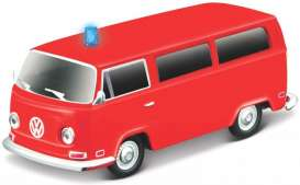 Volkswagen  - T2 red - 1:64 - Maisto - 85033-T2 - mai85033-T2 | The Diecast Company