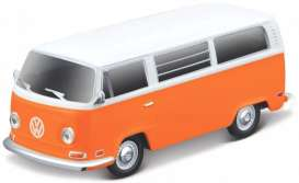 Volkswagen  - T2 Type 2 orange/white - 1:64 - Maisto - 25001-19111 - mai25001-19111 | The Diecast Company
