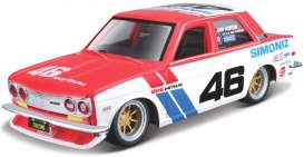 Datsun  - 510 BRE red/white/blue - 1:43 - Bburago - 38047 - bura38047 | The Diecast Company