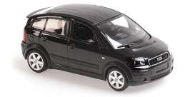 Audi  - A2 2000 black - 1:43 - Maxichamps - 940019001 - mc940019001 | The Diecast Company