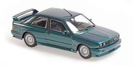 BMW  - M3  1987 green - 1:43 - Maxichamps - 940020304 - mc940020304 | The Diecast Company