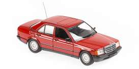 Mercedes Benz  - 190E 1984 red - 1:43 - Maxichamps - 940034102 - mc940034102 | The Diecast Company