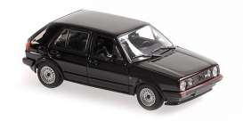 Volkswagen  - 1986 black - 1:43 - Maxichamps - 940054124 - mc940054124 | The Diecast Company