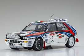 Lancia  - Delta HF Integrale #5 1992 white/red/blue - 1:18 - Kyosho - 8348B - kyo8348B | The Diecast Company