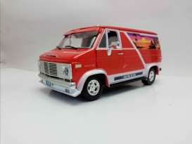 Chevrolet  - G-series Van 1976 orange/white - 1:18 - Acme Diecast - 1802100 - acme1802100 | The Diecast Company