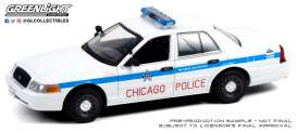 Ford  - Crown Victoria 2008 white/blue - 1:24 - GreenLight - 85533 - gl85533 | The Diecast Company