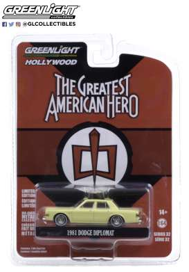 Dodge  - Diplomat 1981 white - 1:64 - GreenLight - 44920A - gl44920A | The Diecast Company