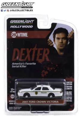 Ford  - Crown Victoria Police Intercep 2001 white - 1:64 - GreenLight - 44920B - gl44920B | The Diecast Company