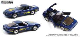 Chevrolet  - Corvette C4 1988 blue/yellow - 1:18 - GreenLight - 13597 - gl13597 | The Diecast Company