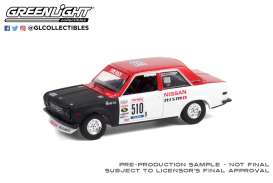Datsun  - 510 #510 1972 white/red - 1:64 - GreenLight - 47070A - gl47070A | The Diecast Company