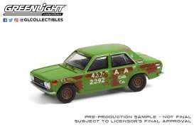 Datsun  - 510 4-Door Sedan 1970 green/rusty - 1:64 - GreenLight - 47070B - gl47070B | The Diecast Company