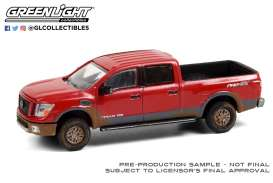 Nissan  - Titan XD 4X 2019 red - 1:64 - GreenLight - 47070E - gl47070E | The Diecast Company