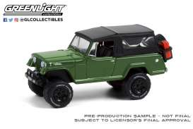 Jeep  - Jeepster Commando 1968 dark green - 1:64 - GreenLight - 35190A - gl35190A | The Diecast Company