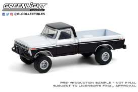 Ford  - F-250  1976 black/white - 1:64 - GreenLight - 35190B - gl35190B | The Diecast Company