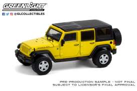 Jeep  - Wrangler Unlimited Rubicon 2008 yellow - 1:64 - GreenLight - 35190E - gl35190E | The Diecast Company