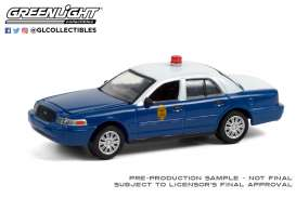 Ford  - Crown Victoria Police Inter. 2011 blue/white - 1:64 - GreenLight - 28060D - gl28060D | The Diecast Company